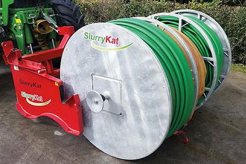 SlurryKat Schlauchhaspel für den Heckanbau